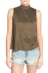 Junior Women's Sun And Shadow Faux Suede Swing Tank