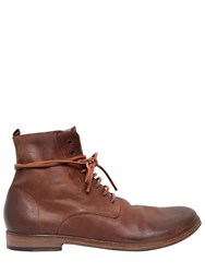 Marsell Lace Up Horse Leather Ankle Boots