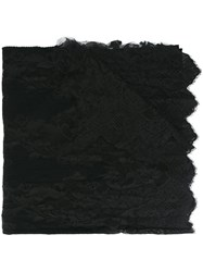 Ermanno Scervino Lace Panel Scarf Black