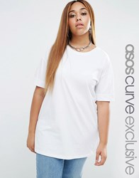 Asos Curve Oversized Tunic T Shirt White