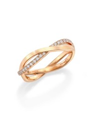 De Beers Infinity Diamond And 18K Rose Gold Half Band Ring