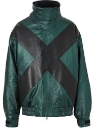Burberry Graphic Panel Funnel Jacket Green