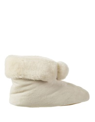Isotoner Signature Holiday Faux Fur Memory Foam Bootie Slippers Ewe