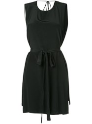 Kacey Devlin Collapse Back Tie Neck Dress Black