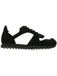 Comme Des Garcons Contrast Panel Sneakers Black