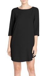 Bb Dakota Women's 'Jazlyn' Crepe Shift Dress Black