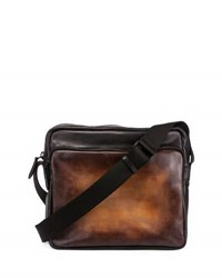 Berluti Calf Leather Messenger Bag Black
