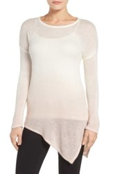 Vince Camuto Lightweight Dip Dye Sweater Pink