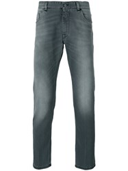 Fendi Slim Jeans Men Cotton Spandex Elastane 36 Grey