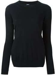 Jil Sander Navy Crew Neck Jumper Blue
