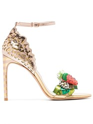 Sophia Webster Multicoloured Lilico Fruit 100 Leather Sandals Metallic
