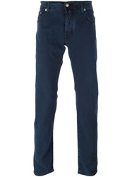 Jacob Cohen Straight Leg Trousers Blue