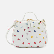 Lulu Guinness Women's Henrietta Confetti Lip Print Tote Bag Pale Grey Multi