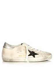 Golden Goose Super Star Low Top Leather Trainers Light Grey