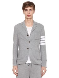 Thom Browne Striped Cotton French Terry Jacket