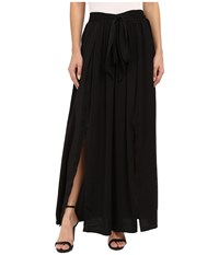 Bobeau Rosemary High Slit Maxi Black Women's Skirt