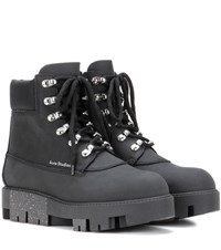 Acne Studios Telde Leather Ankle Boots Black