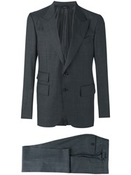Tom Ford O'connor Checked Suit Grey