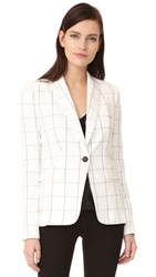 Veronica Beard Clubhouse Jacket White Black
