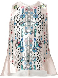 Peter Pilotto Printed Sleeveless Top Pink And Purple