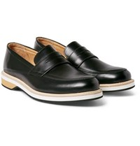 Want Les Essentiels Marcos Leather Penny Loafers Black