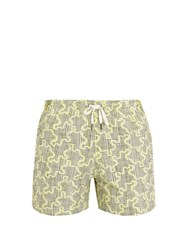 Danward Puzzle Print Swim Shorts Yellow Multi