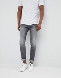 Selected Homme Jeans In Skinny Fit Grey Denim