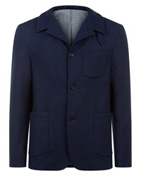 Jaeger Men's Salt And Pepper Workwear Jacket Navy