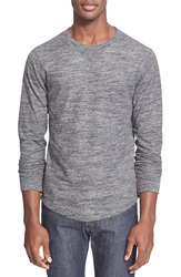 Todd Snyder Double Knit Long Sleeve Sweater Charcoal Heather