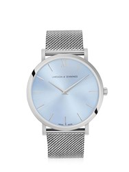 Larsson And Jennings Lugano Solaris 40Mm Light Blue Watch Silver