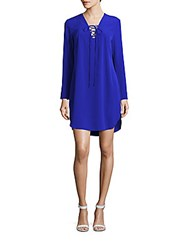 Amanda Uprichard Lace Up Front Dress Royal
