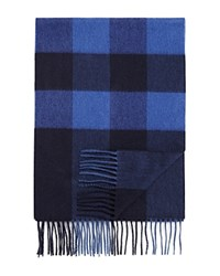 Bloomingdale's The Men's Store At Cashmere Box Stripe Scarf Blue