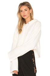 Lovers Friends X Revolve Alma Cropped Hoodie Ivory