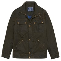 Joules Hudson Wax Jacket Olive Green