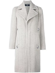 Versus Embellished Coat Nude Neutrals