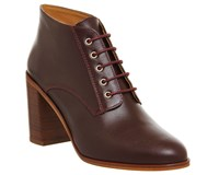 Office Landgirl Lace Up Boots Burgundy