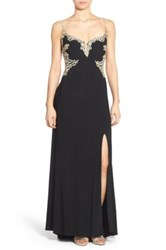 Jump Open Back Embellished Gown Black