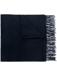 N.Peal Large Woven Scarf Cashmere Blue