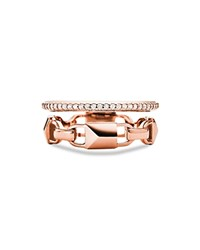 Michael Kors Pave Link Stacked Ring Rose Gold