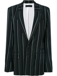 Haider Ackermann Striped Oversized Blazer Black