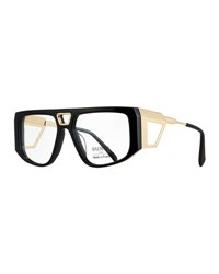 Balmain Acetate Shield Optical Frames Black