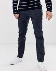 Selected Homme Slim Tailored Textured Trousers In Navy