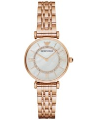 Emporio Armani Women's Gianni T Bar Rose Gold Tone Stainless Steel Bracelet Watch 32Mm Ar1909