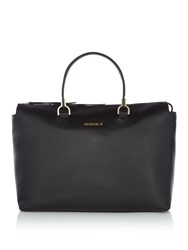Coccinelle Keyla Soft Leather Satchel With Strap Black