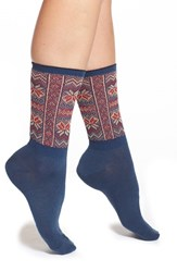 Women's Free People 'French Quarter' Fair Isle Knit Crew Socks