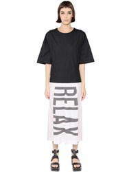 Omelya Relax Printed Pleated Cotton Dress
