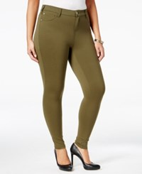 Celebrity Pink Trendy Plus Size Skinny Jeans Olive Night
