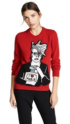 Michaela Buerger Icon Perfume Sweater Red