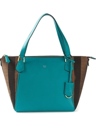 Fendi Pequin 'Boston' Tote Green