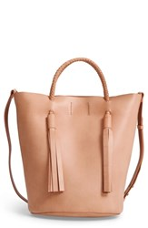 Madewell Austin Leather Bucket Bag Brown Natural Buff